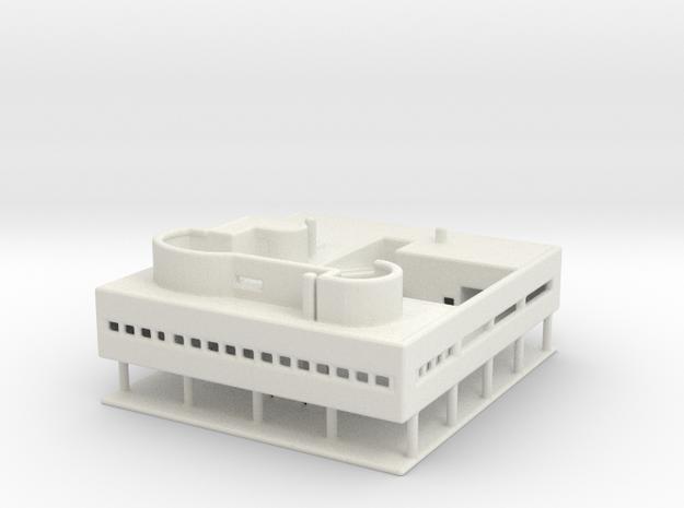 Villa Savoye Medium in White Natural Versatile Plastic