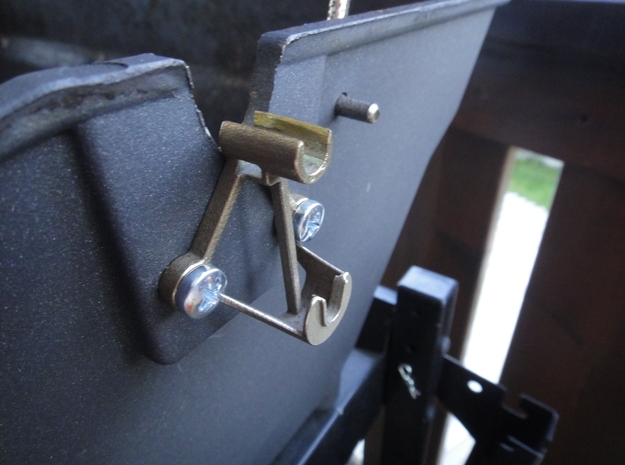 Grill support for skewer in Polished Bronzed Silver Steel
