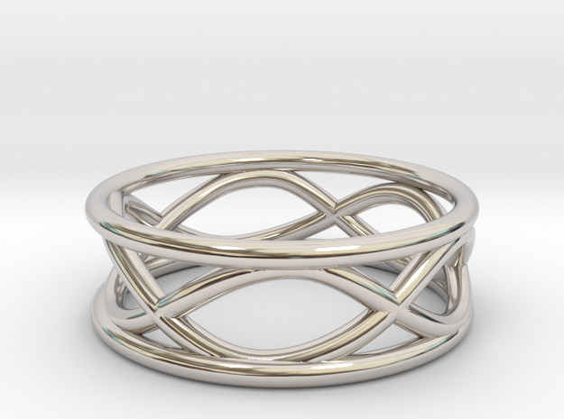 Infinity Ring- Size 7 in Rhodium Plated
