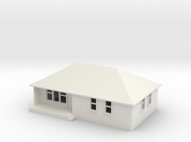 N Scale Australian House #1B-M in White Natural Versatile Plastic