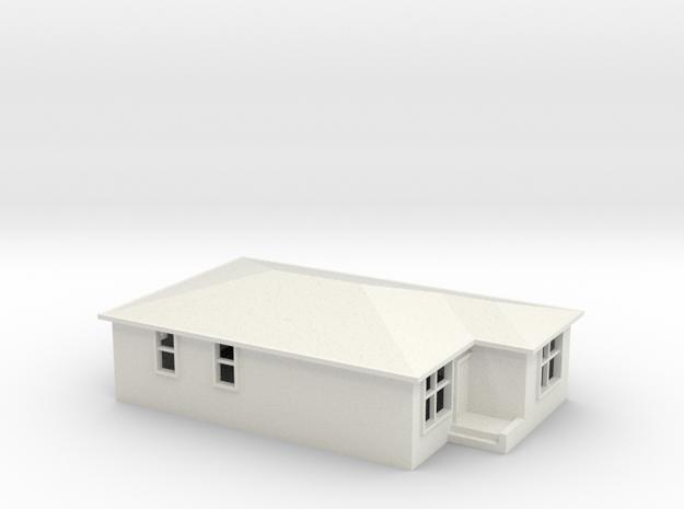 N Scale Australian House #2B-M in White Natural Versatile Plastic