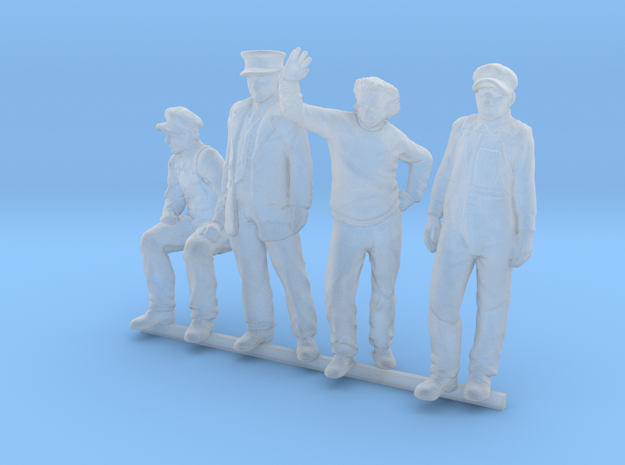 HO Pack of 4 figures in Smoothest Fine Detail Plastic