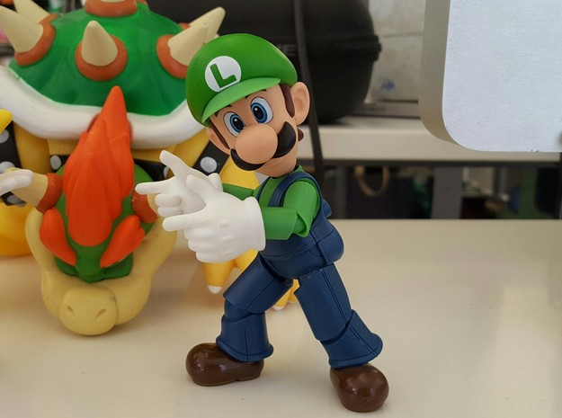 Finger Gun Hands for S.H. Figuarts Mario / Luigi