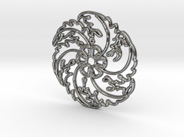 Flower in Fine Detail Polished Silver