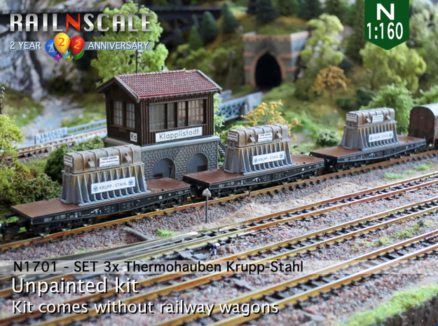 SET 3x Thermohauben (N 1:160)