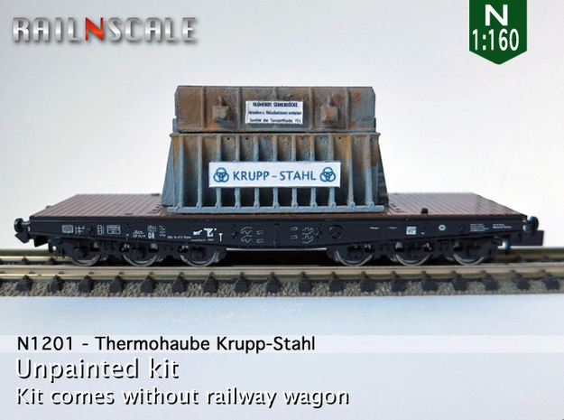 Thermohaube Krupp-Stahl (N 1:160) in Frosted Ultra Detail