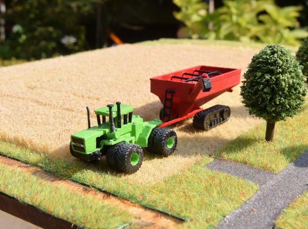 1:160/N-Scale Grain Cart On Tracks 1050 in White Strong & Flexible