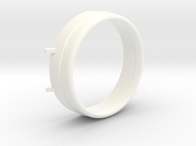 """3/4"""" Scale Sunbeam Headlight Lense Cap in White Processed Versatile Plastic"""