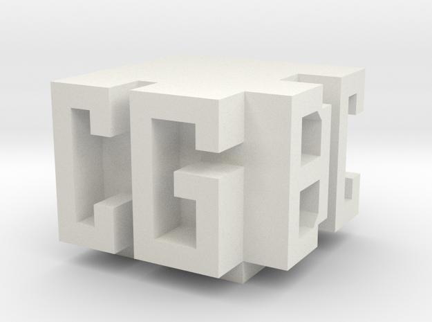 CGBC Logo in White Natural Versatile Plastic