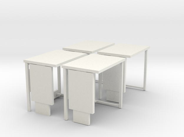 1:76th Bus shelter type 3 (4 pack) 3d printed