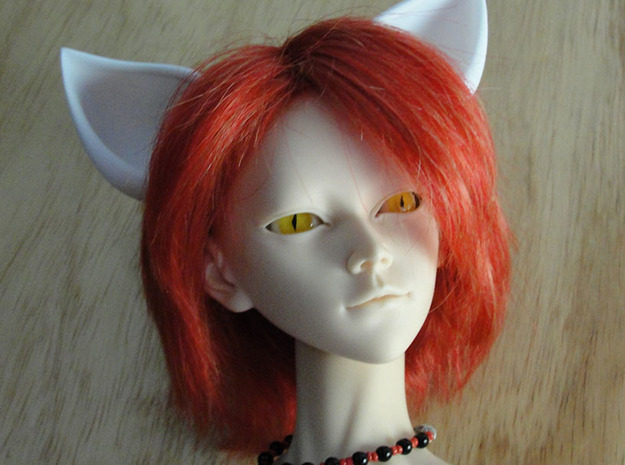 Fox Ears SD doll size in White Natural Versatile Plastic