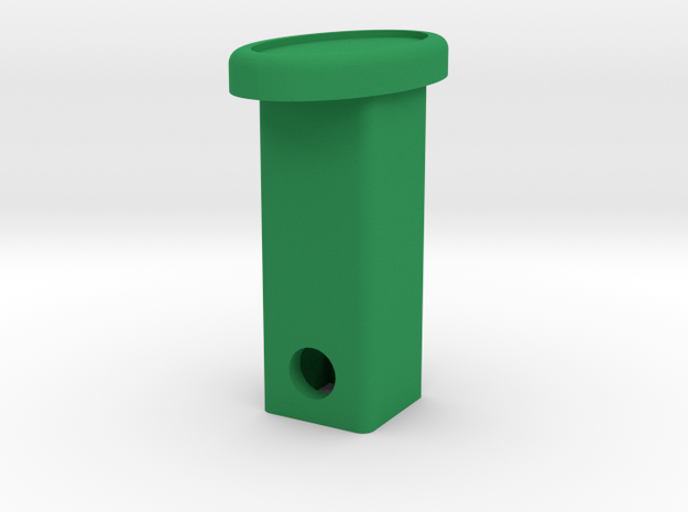 Defender Hitch Cover - Oval in Green Processed Versatile Plastic