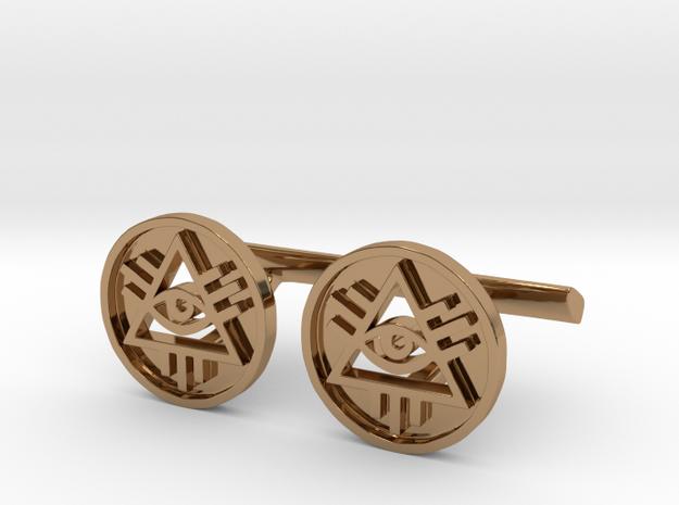 Illuminati Cufflinks in Polished Brass
