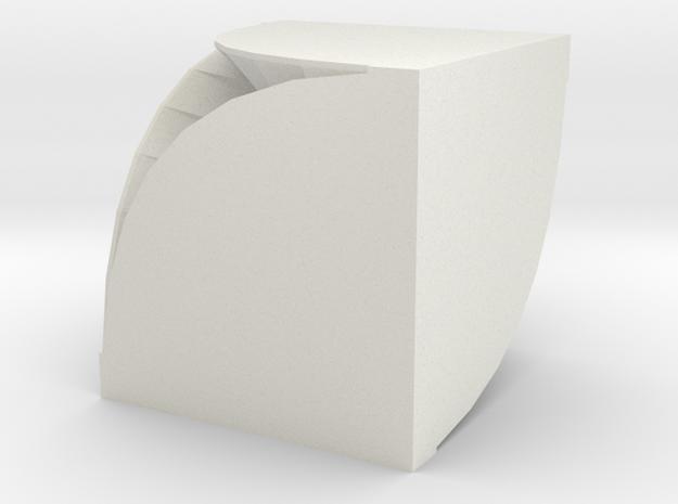 Spiral Box in White Natural Versatile Plastic