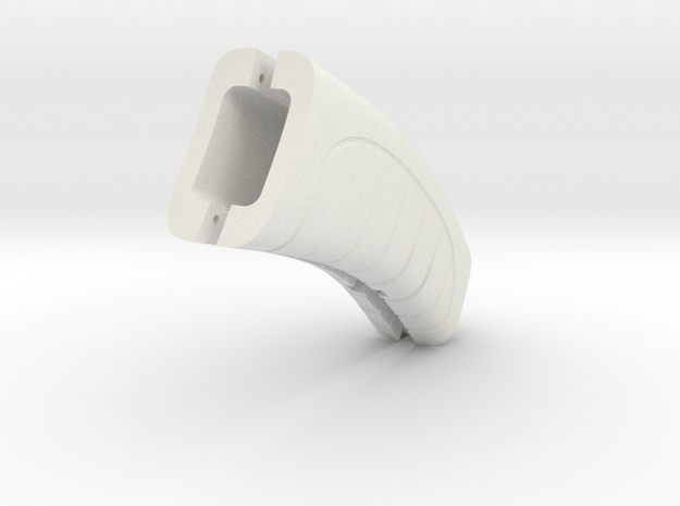 Retro Raygun: grip in White Natural Versatile Plastic