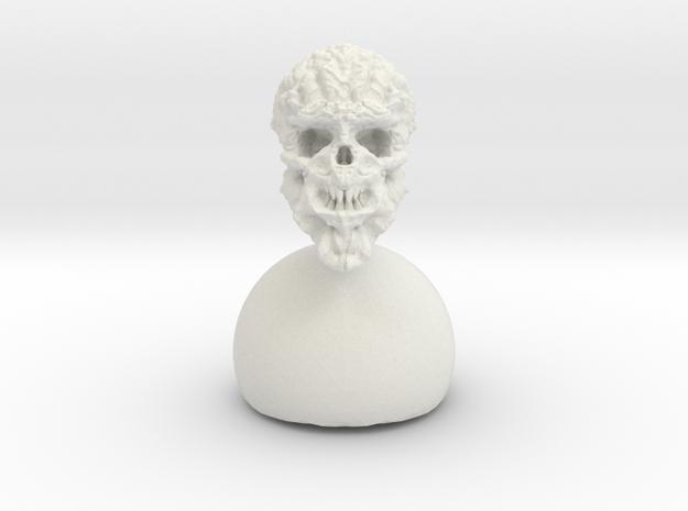 alien Skull  in White Strong & Flexible