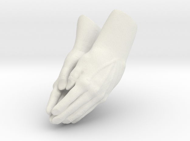 Praying Hands in White Strong & Flexible