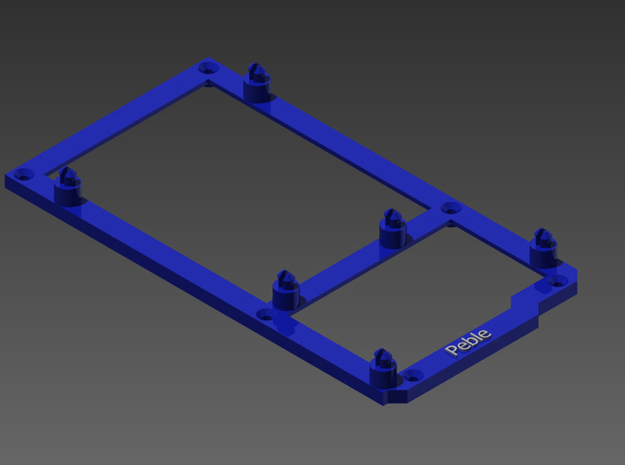 Low desktop stand for Arduino Mega in Blue Processed Versatile Plastic