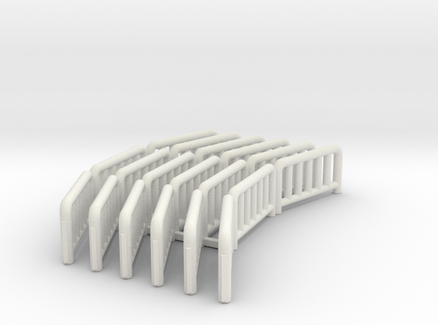 Fence40footdiathreeconnected Fixed in White Natural Versatile Plastic