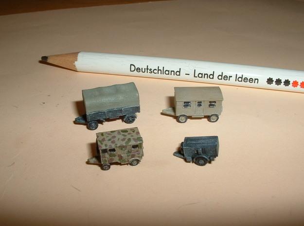 German Wehrmacht Trailers 1/285 6mm