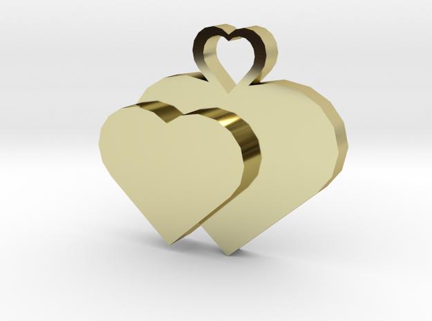 Heart2heart Pendant in 18k Gold Plated Brass
