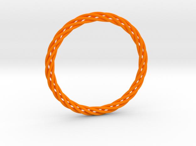 Bracelet twisted in Orange Processed Versatile Plastic