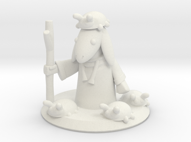 Ladybug Mage with Base (16mm) in White Strong & Flexible