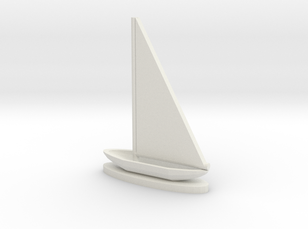Sailboat in White Natural Versatile Plastic