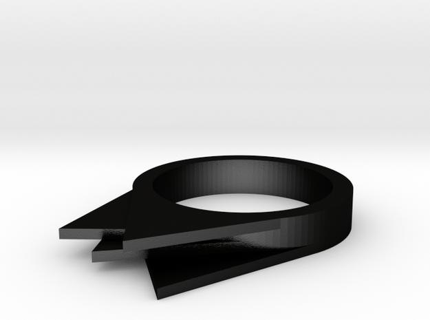 Sliced Triangles in Matte Black Steel