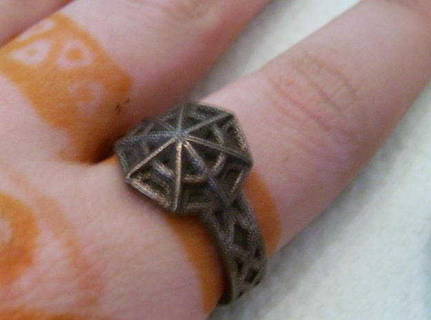 Star of the Arcane Order Ring Size 10 in Polished Bronze Steel