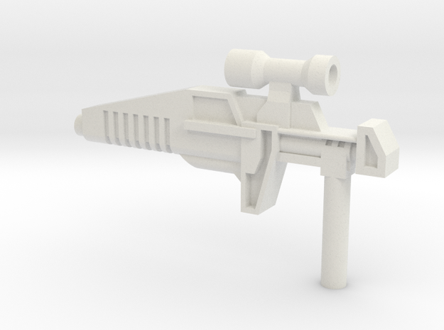 Typhoon Rifle (5mm) in White Natural Versatile Plastic