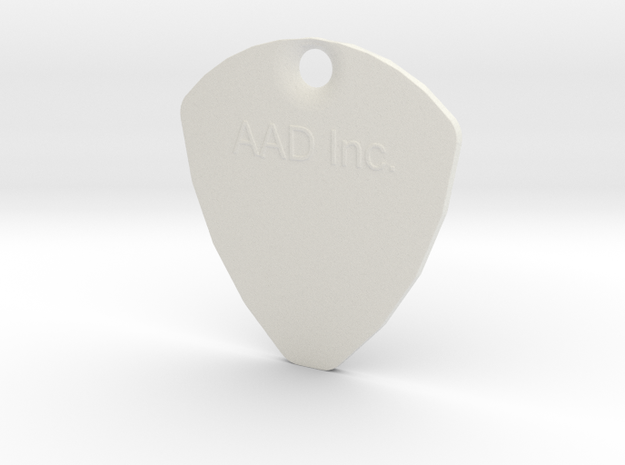 Customizable Plectrum With Hole in White Strong & Flexible