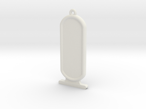 ExtraLong Customizable Ancient Egyptian Cartrouche in White Natural Versatile Plastic