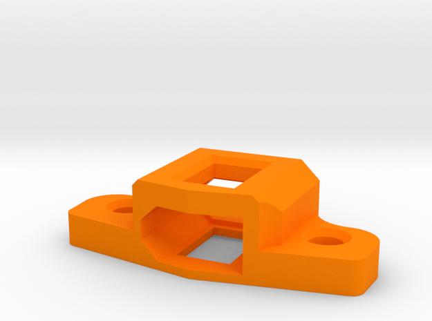 XT60 mount for ZMR250 quadcopter drone in Orange Processed Versatile Plastic