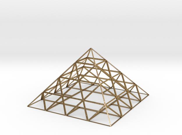pyramid in Polished Gold Steel