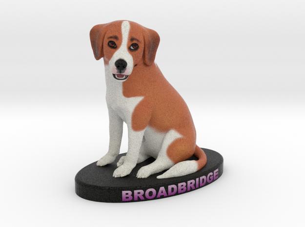 Custom Dog Figurine - Broadbridge in Full Color Sandstone