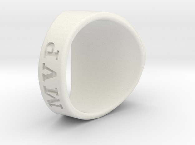 Superball Gem Ring in White Natural Versatile Plastic
