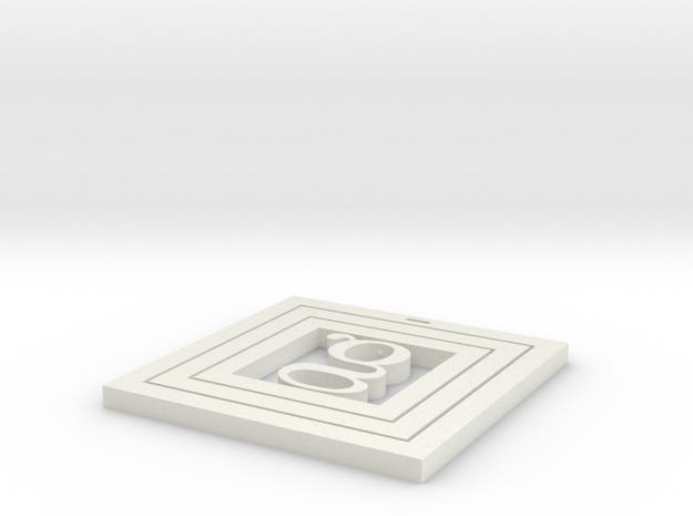 Coaster Square 3d printed