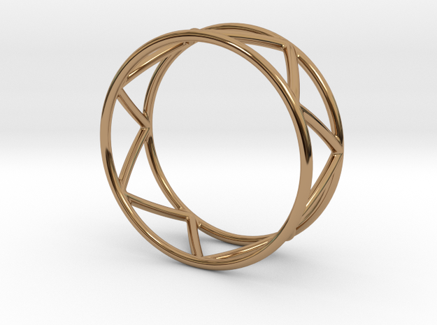 Zig Zag Thumb Ring in Polished Brass