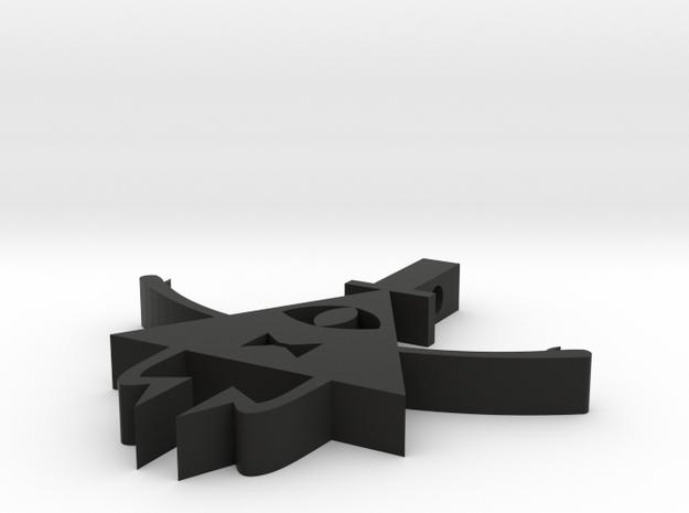 Bill Cipher Pendant in Black Strong & Flexible