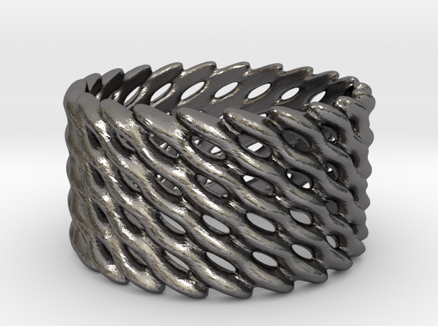 Lattice Twist No.1 in Polished Nickel Steel