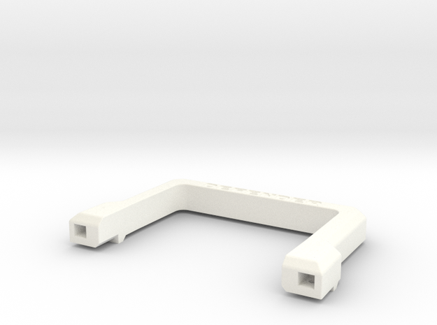 Defender A-Frame Protection Bar in White Processed Versatile Plastic