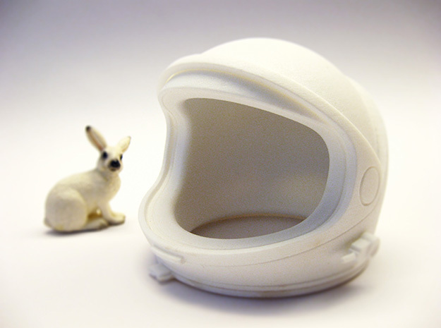Desktop Astronaut (helmet) in White Natural Versatile Plastic