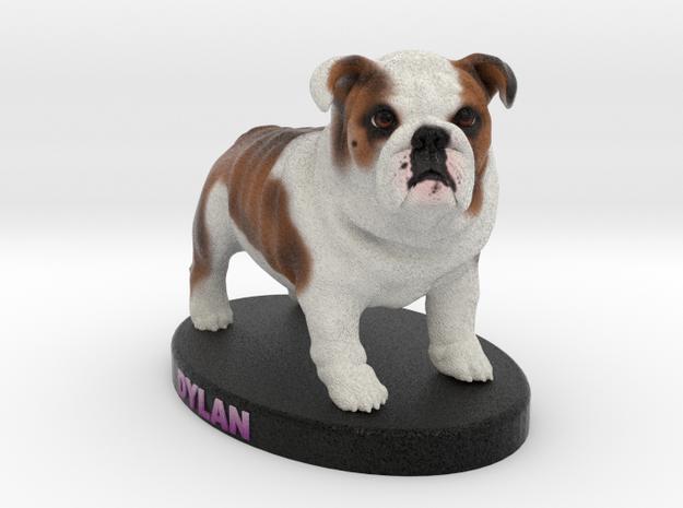 Custom Dog Figurine - Dylan in Full Color Sandstone