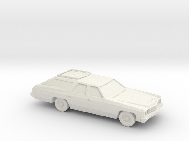 1/87 1973 Chevrolet Caprice Classic Station Wagon in White Natural Versatile Plastic