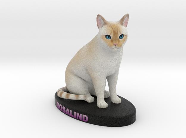 Custom Cat Figurine - Rosalind in Full Color Sandstone