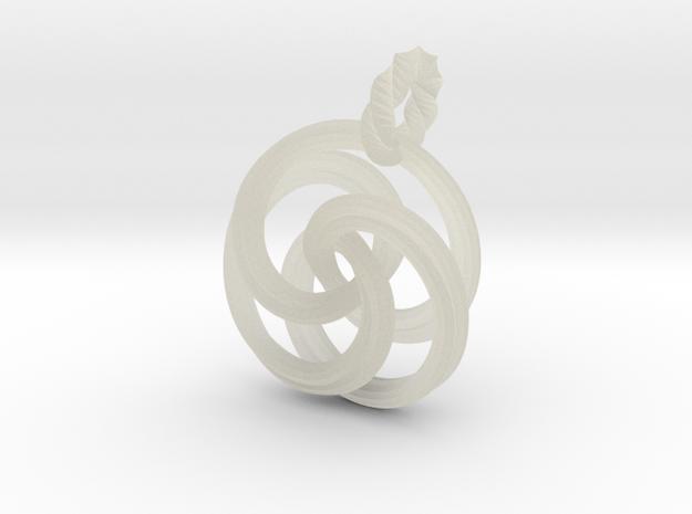 pendant twirl 3d printed Description