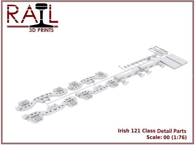 Detail Parts for Irish Railways 121 Class in Smooth Fine Detail Plastic