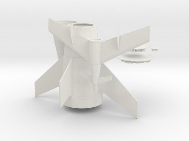 1/288 VON BRAUN ROCKET in White Natural Versatile Plastic