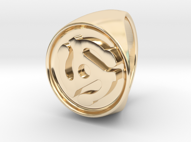 Custom Signet Ring 7 in 14k Gold Plated Brass